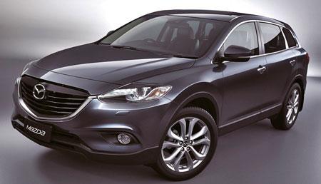 Кроссовер Mazda CX-9 в процессе обновления.