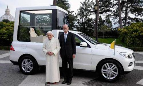 Новый Mercedes-Benz для папы Римского.