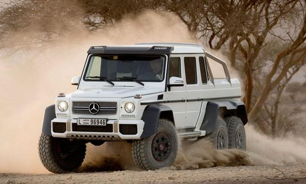 6 -колесный Mercedes-Benz-G-63-AMG пикап