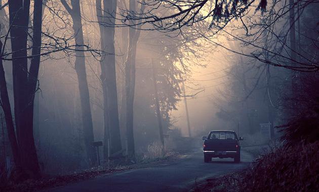Вождение автомобиля во время тумана