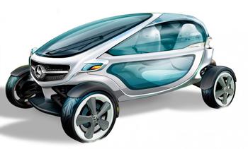 Mercedes-Benz Vision Golf Cart - удобный и практичный гольф-кар