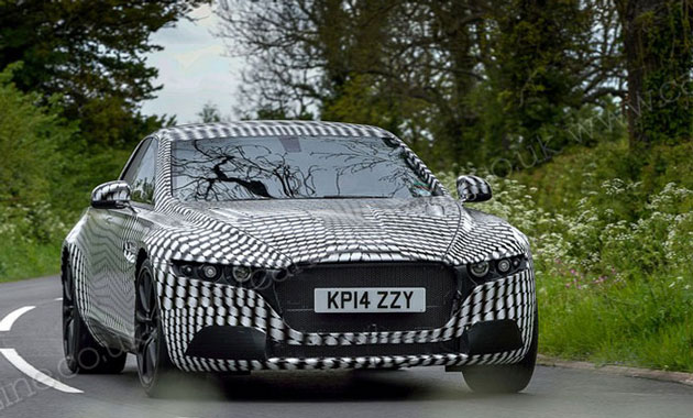 Aston Martin начал тесты нового седана.